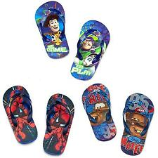 Disney Store Toy Story Spiderman Cars Planes Flip Flops 7/8 9/10 11/12 13/1 2/3