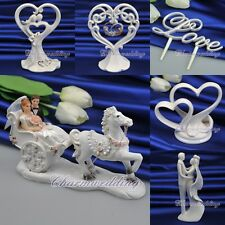 6 Types Ivory Porcelain/Resin Wedding Cake Toppers Love Cake Decorations Favours