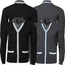 Mens Dissident MB 23986 Knitwear Top Sweater Jumper with check shirt insert