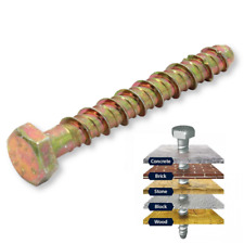 JCP Self Tap Tapping Screw Anchor Fix Window Fixing Bolt Brick Stone Concrete