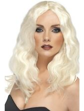Ladies Superstar Wig, Long, Wavy Blonde Fancy Dress Party Costume Accessory