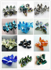 50pcs 10x14mm  Wholesale 18 Colors Options Faceted Cone Body Glass Crystal Beads