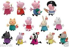 TY PEPPA PIG BEANIE BEANIES ~ CHOOSE YOUR SOFT PLUSH PEPPA PIG TOY ***NEW