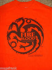 Game Of Thrones HBO Show Targaryen Fire and Blood Red T-Shirt