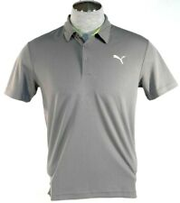 Puma Cell Moisture Wicking Gray Short Sleeve Athletic Polo Shirt Mens NWT