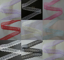 Pretty! 10/20/50/100/200 yards embroidery lace ribbon colors can be selected