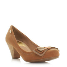 Womens Xti Camel Bow Low Heel Work Office Smart Ladies Court Shoes Size 3-8