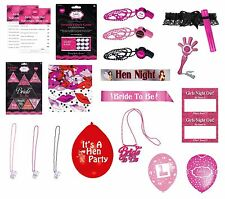 HEN NIGHT (GIRLS NITE OUT) Party Items - Large Range (Balloons/Banners/Games)