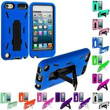 Hybrid Heavy Duty Hard/Soft Case Cover with Stand for iPod Touch 5th Gen 5G 5