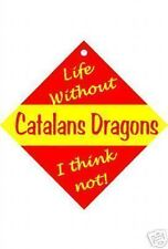 Catalans Dragons Car / Window Sign or Slap-on magnets Free UK p/p