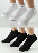Nike SX4210 SX4829 3-pair Dri-FIT Cotton Low Cut Socks Black White L Men's 8-12