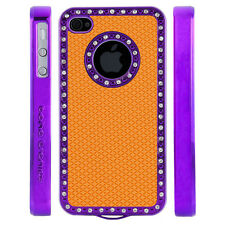 Apple iPhone 4 4S Gem Crystal Rhinestone Orange Diamond Rubber case