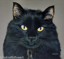 Custom Portrait Pet Painting Many Sizes Any Animal Painted by Sharon Lamb