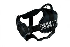 DT FUN w/ Chest Support Working Dog Harness reflect trim - POLICE K9 IN TRAINING