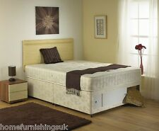 CHEAP PRICE CRYSTAL DIVAN BED - 2FT6,3FT,4FT,4FT6,5FT - FREE NEXTDAY DELIVERY