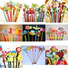 12PCS Animal Insect Fish Wooden Pencil Kids Boy Girl Party Supply Bag Prize Gift