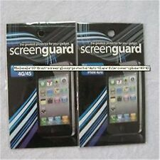 2X  front screen glossy protector Anti-Glare film cover iphone 4G 4S