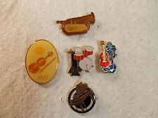 Music Instrument Lapel & Hat Pins or Tie Tacs # 2
