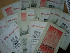 Lincoln City HOME programmes 1960's N-Y FREE UK P&P