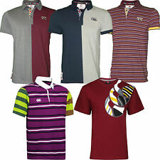 Mens Canterbury CCC Polo Shirt Jersey Uglies Rugby Split / Striped New