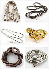 1X Mixed Bendy Snake DIY Craft Chains For Necklace/Bracelet/Bangle Flexible 90cm