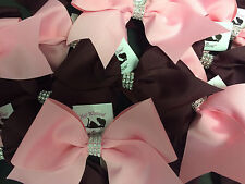 "XWIDE 3"" Texas Size Faux Diamonds On A Budget Cheer Cheerleading Cheer Bow"