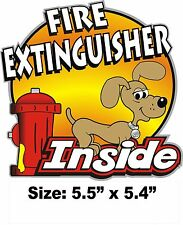 Fire Extinguisher Inside Decal 4 Drivers of Peterbilt Kenworth Freightliner RV's