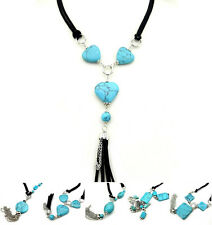 Buy 2 Get 1 Free, Heart Round Turquoise Tibetan Silver Tibet Necklace X12