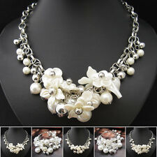 Buy 2 Get 1 Free, Venetian Pearl Flower Fashional Necklace Bracelet XB227