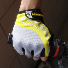 2015 Cycling Bike Bicycle Ultra-breathable Shockproof Half Finger Glove Yellow