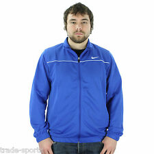 "NIKE MENS SIZE XS 34"" BLUE TRAINING TRACK JACKET TOP SWEAT FULL ZIP FITNESS NEW"