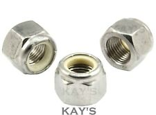 """UNF NYLOC NUTS A2 STAINLESS STEEL NYLON INSERT LOCKING 10 1/4 5/16 3/8 7/16 1/2"""""""