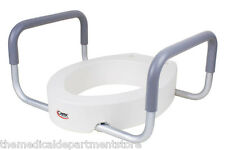 Carex Raised Toilet Seat with Handles - Round or Elogated