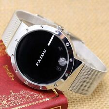 Simple Black/White Metal Iron Mesh Quartz Wrist Watch Mens Womens Girl Lady Gift