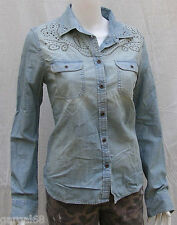 American Eagle Outfitters AEO Womens Studded Denim Button Shirt *Nwt*