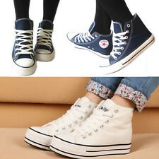 Fashion Unisex Canvas High Top Sneakers Lace Up Casual Shoes,Trainers
