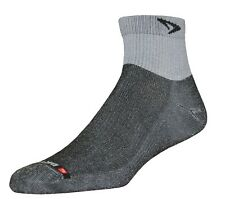 Drymax Socks Trail Running Lite 1/4 Crew Grey/Black 1 pair