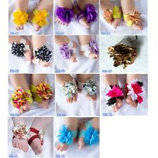 Baby Infant Girls Cute Barefoot Flower Sock Sandals Shoes for Baby 6-24 months