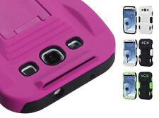 Advanced Armor Rugged Protector Cover Case w/Kick Stand for Samsung Galaxy S 3