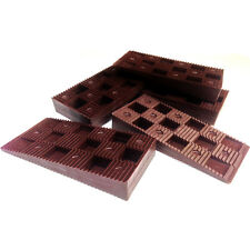 WEDGIT BROWN PLASTIC LEVEL FRAME PACKERS - INTERLOCKING, LEVELLING, SHIM, WOOD