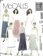 UNCUT Vintage McCalls Sewing Pattern Misses Semi Fitted A Line Skirt 2800 OOP FF