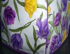 Purple Spring Tulips Quilted Fabric 2-Slice or 4-Slice Toaster Cover NEW