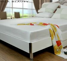 100% Silk Bedding Fitted Sheet 1-pc 19m/m Twin/Full/Queen/King/Cal-King USB0002