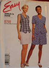 8768 Vintage McCalls SEWING Pattern Misses Top Pull on Shorts Summer UNCUT