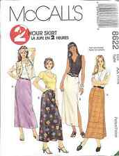 8622 UNCUT Vintage McCalls SEWING Pattern Misses 2 Hour Semi Fitted Skirt OOP FF