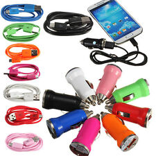 Chargeur secteur voiture + Cable MICRO USB PR Samsung GALAXY S4 S3 S2 ACE NOTE 2