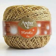 ANCHOR Artiste ~Metallic~ Crochet, Knitting & Embroidery Yarn Sold as 25g Balls