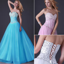 2013 New BEAD Sweetheart A-line Formal Ball Party Long Prom Evening Dresses Gown