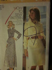VINTAGE Simplicity Sewing Pattern 5151 Misses HOW TO SEW Shirt-Dress 10 12 14 16