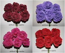 luxury 6 CABBAGE large foam roses artificial flowers wedding bouquet choose col